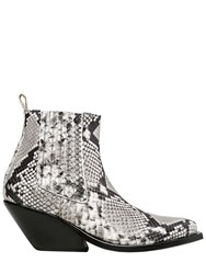 Gaia D'este 70Mm Python Printed Leather Ankle Boots