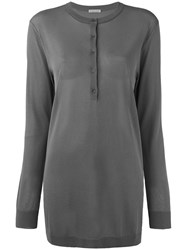 Tomas Maier Pull Over Top Women Polyester Viscose 8 Grey