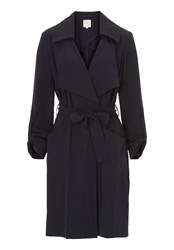 Betty And Co. Unlined Trench Coat Blue