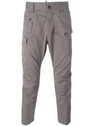 Dsquared2 Cropped Cargo Pants Grey