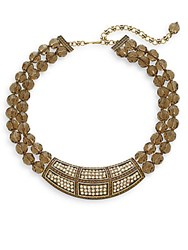 Heidi Daus Simply Put Two Strand Necklace Brown