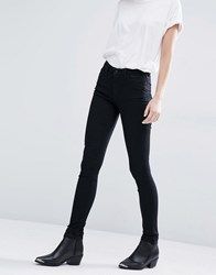 Weekday Body Super Skinny Jeans Elastic Black Cream