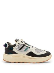 Eytys Jet Turbo Leather And Mesh Trainers Black White