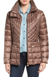 Bernardo Women's Packable Jacket With Down And Primaloft Fill Chestnut Ash Brown