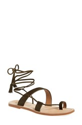 Women's Elie Tahari 'Flash' Wraparound Tie Sandal