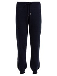 Barrie Romantic Cashmere Track Pants Navy