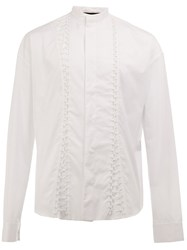 Haider Ackermann Ruffle Detail Shirt White