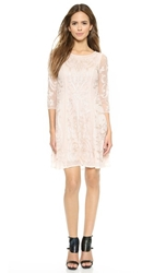 Marchesa Voyage Embroidered Swing Dress Blush