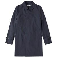 Head Porter Plus Balmacaan Coat Blue