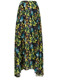 Amir Slama Printed Long Skirt Green