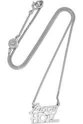 Marc By Marc Jacobs Bunny Hop Silver Plated Cubic Zirconia Necklace Metallic