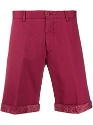 Etro Classic Chino Shorts Red