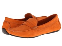 Massimo Matteo Penny Keeper Orange Nubuck Moccasin Shoes