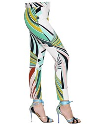 Emilio Pucci Printed Stretch Cady Pants