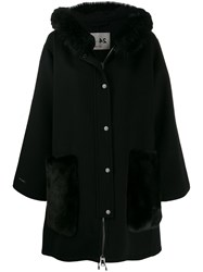 Manzoni 24 Textured Hooded Coat Black