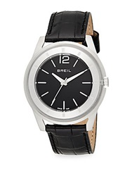 Breil Milano Stainless Steel And Croc Embossed Leather Round Watch