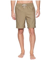 Fred Perry Textured Swimshorts Olive Swimwear