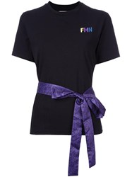Fleamadonna Ribbon Detail T Shirt Black