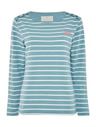 Brakeburn Bella Long Sleeve Crew Neck Top Blue