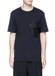 Public School 'Foss' Flap Pocket T Shirt Black