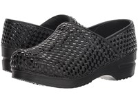 Sanita Professional Lattice Black Clog Shoes