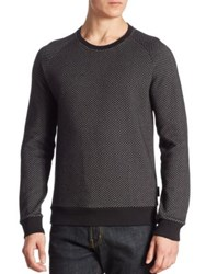 J. Lindeberg Regular Fit Diamond Printed Sweatshirt Black