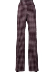 Altuzarra Straight Plaid Trousers Red