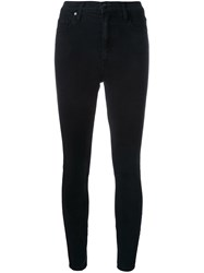 Nobody Denim Siren Skinny Ankle Black