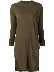 Rick Owens Drkshdw Long Ribbed Sleeve T Shirt Brown