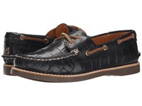 Sperry Gold Cup A O Boat Novelty Black Women's Lace Up Casual Shoes