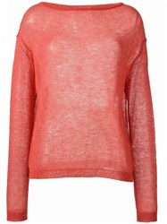 Forte Forte Loose Knit Sweater Pink Purple