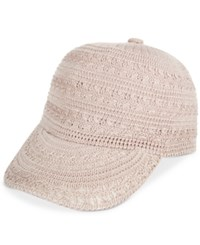 Inc International Concepts Crochet Packable Baseball Cap Only At Macy's Tan