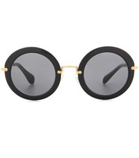 Miu Miu Round Sunglasses Black