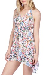Lucky Brand Women's Garden Cover Up Swing Dress Multi