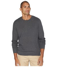 Nautica Solid Crew Neck Sweater Charcoal Heather Gray