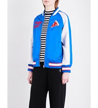 Chocoolate Dream Souvenir Satin Jacket Blue