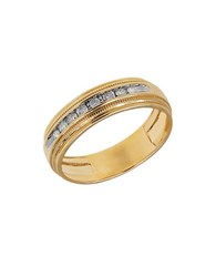 Lord And Taylor Channel Set Diamond 14K Yellow Gold Ring