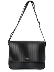 Emporio Armani Ribbed Faux Leather Messenger Bag