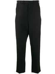Haider Ackermann Drop Crotch Cropped Trousers Black