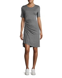 A.L.C. Short Sleeve Ruched Jersey Dress Gray