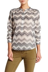J. Crew Factory Embroidered Zig Zag Blouse Multi
