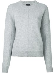 Joseph Drop Shoulder Sweater Grey