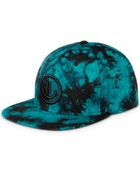 Neff Men's Charles Tie Dyed 3D Embroidered Logo Cotton Hat Black