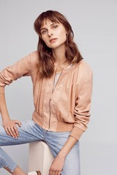 Anthropologie Hilltop Ruched Bomber Rose