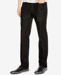 Kenneth Cole New York Men's Straight Fit Black Wash Jeans