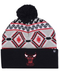 47 Brand '47 Chicago Bulls Hardwood Classic Up North Knit Hat Gray Black