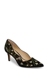 Sole Society Edith Pump Black Embroidery