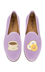 Del Toro M'o Exclusive Bagel And Coffee Slipper Purple