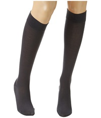 Wolford Merino Knee Highs Anthracite Knee High Hose Pewter