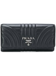 Prada Quilted Logo Wallet Black